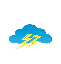 clouds and thunder for logo design thunderstorm vector image