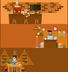 coffee work vector image