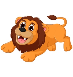 cute lion cartoon smiling vector image