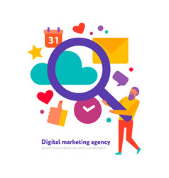 Digital marketing agency vector