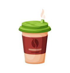 disposable coffee cup espresso latte cappuccino vector image