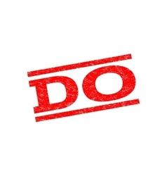 Do Watermark Stamp vector image