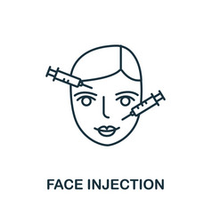 Face injection icon from plastic surgery vector