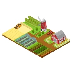 Farm Isometric View vector