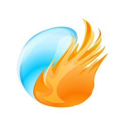 Fire water symbol vector
