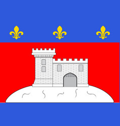 Flag of montbrison in loire of vector