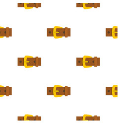 Gold buckle pattern flat vector