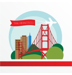 golden gate bridge - the symbol us san vector image