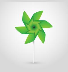 green pinwheel vector image