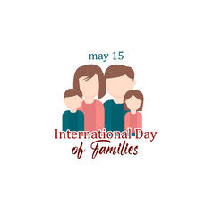 Happy international day families logo template vector