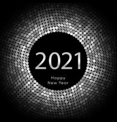 Happy new year 2021 dot background calendar vector