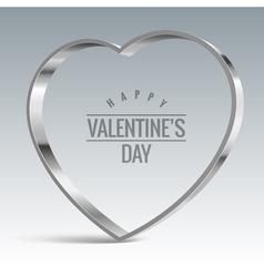Heart sign Shiny metal vector image