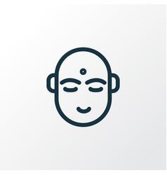 hindu human icon line symbol premium quality vector image