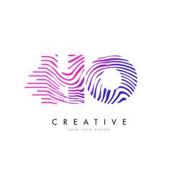 ho h o zebra lines letter logo design with vector image