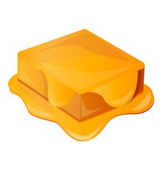 honey brick icon cartoon style vector image