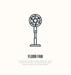 Household supply line logo flat sign of floor fan vector