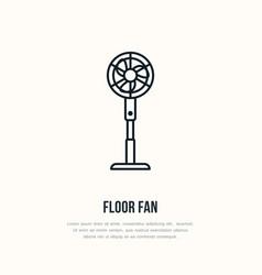Household supply line logo flat sign of floor fan vector
