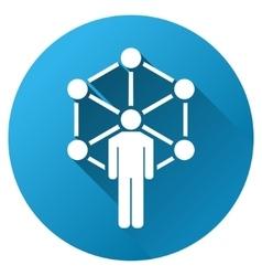 Human Network Gradient Round Icon vector