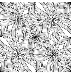 Intricate floral braided seamless pattern vector