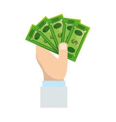 isolated hand taking money vector image