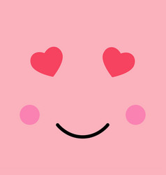 loving funny emotion emoji smie face vector image