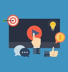 Media marketing concept Flat design stylish vector image