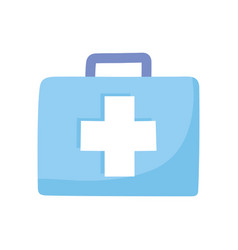 Medical kit first aid equipment isolated design vector