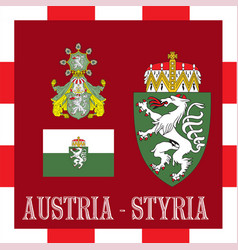 National ensigns of styria - austria vector