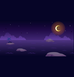 Ocean night game background vector