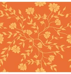orange texture with plants vector image