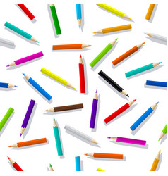 pattern seamless color pencils vector image