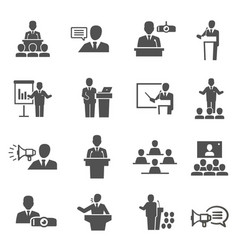 public speaking political debate lecturer speech vector image