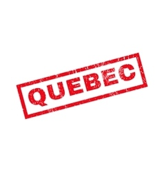 Quebec Rubber Stamp vector