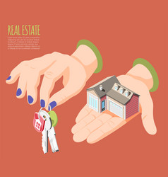 real estate augmented reality isometric background vector image
