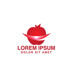 red apple modern logo inspiration isolated on vector image