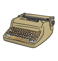 retro typewriter sketch doodle hand vector image