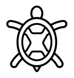 sea turtle icon outline style vector image