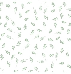 Seamless pattern with leaves Nature background vector image