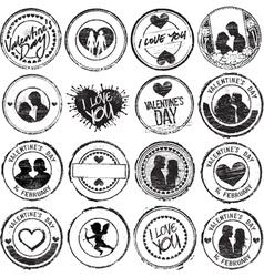 set love stamps vector image