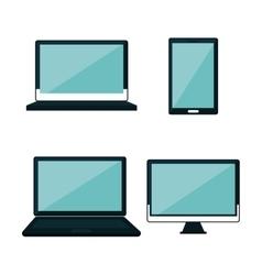set technology digital design vector image