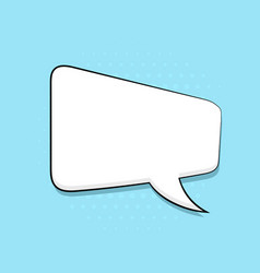 Speech bubble on blue background pop art comic vector