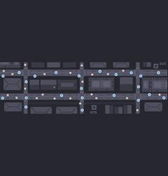 spot lights on city map 5g online communication vector image