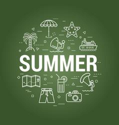 Summer concept - school board vector