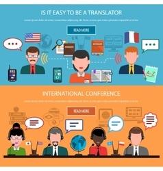 Translation Horizontal Banners vector image