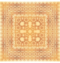 Vintage beige lacy ornate shawl pattern vector image