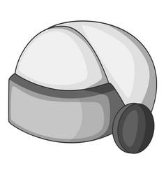 virtual reality helmet icon monochrome vector image