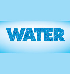 water backgrounds with text and drops vector image