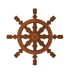 Yacht steering wheel icon vector