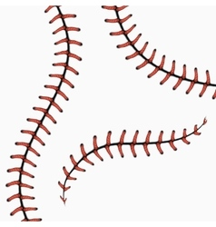 Baseball stitches softball laces isolated on vector image