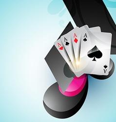 casino card design vector image